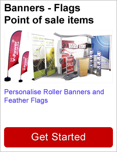 Roller banners Feather flags POS items