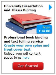 Dissertation printing and binding